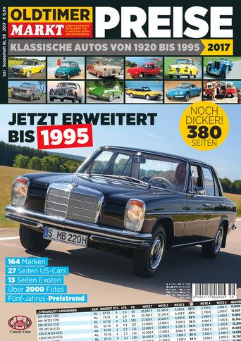 Sonderheft 59: Preise - Klassische Autos von 1920-1995 Erscheinungsjahr: 2017