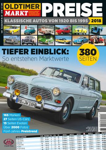 Sonderheft 61: Preise - Klassische Autos von 1920-1995 Erscheinungsjahr: 2018