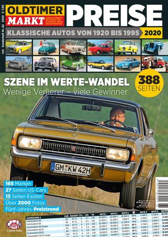 Sonderheft 65: Preise - Klassische Autos von 1920-1995 Erscheinungsjahr 2020