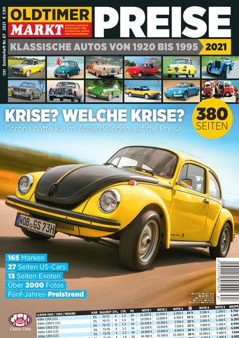 Sonderheft 67: Preise - Klassische Autos von 1920-1995 Erscheinungsjahr 2021
