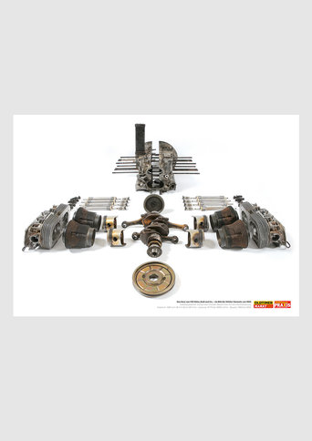 Motorenposter VW Boxer, 1960-2003