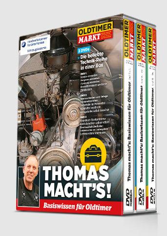 Schuber mit 3 DVDs: THOMAS MACHT'S - Vol. 1 bis 3 Basiswissen für Oldtimer