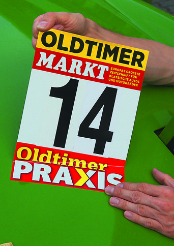 Oldtimer-Markt-Startnummern
